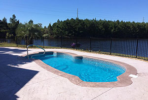 A Myrtle Beach, SC Inground Swimming Pool we installed