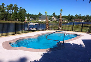 A Swimming Pool we installed in Myrtle Beach, SC