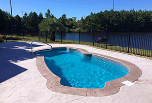 A Custom Pool installation in Myrtle Beach, SC