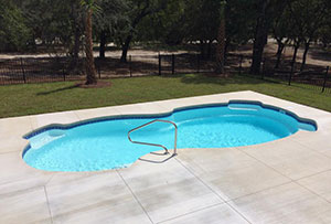 A Wilmington, NC Inground Swimming Pool we installed