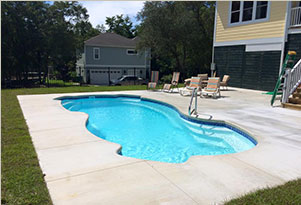A Swimming Pool we installed in Wilmingon, NC